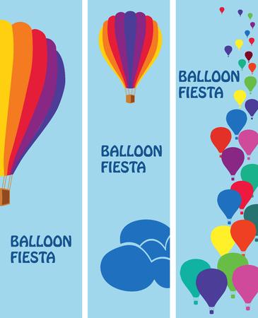 aeronautics: Three bright banner for the fiesta balloons.