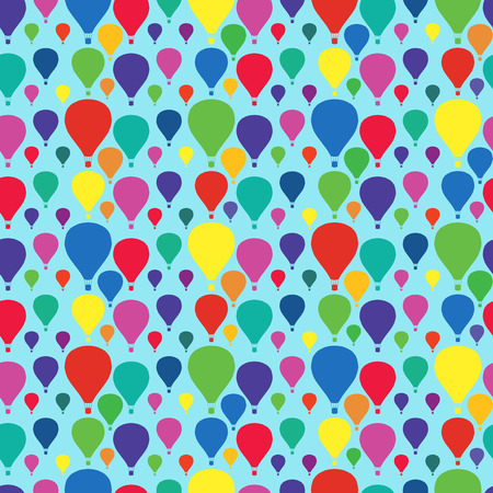 fiesta popular: Seamless pattern with bright colored balloons. Surface design.