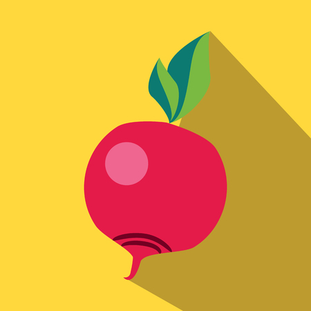 beet: Beet colored icon on a yellow background.