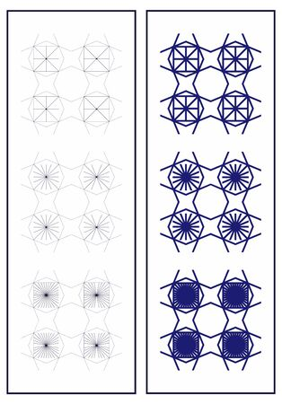 progressive art: Set of seamless patterns in art deco style. Simple geometric patterns. Suitable for wall design, fabrics, packaging.