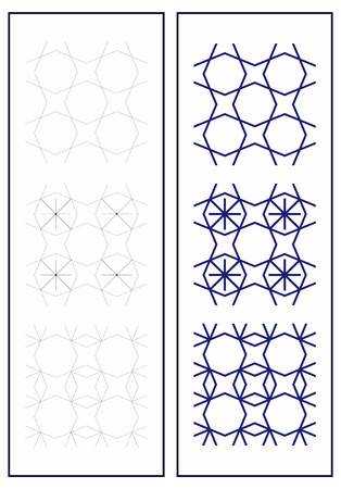 Set of seamless patterns in art deco style. Simple geometric patterns. Suitable for wall design, fabrics, packaging.