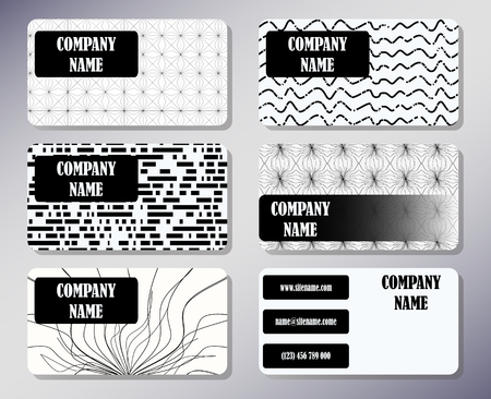 firms: Set of business cards with a simple concise design. Front page and back page.