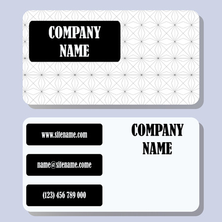 firms: Business card template with a simple background and concise design.