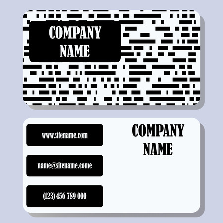 corporations: Business card template with a simple background and concise design.