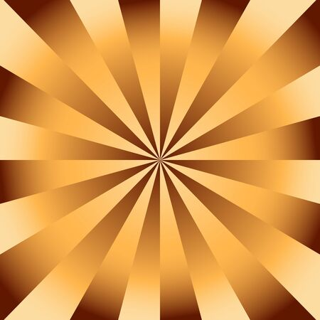 divergent: Chocolate golden radial background with divergent rays. Background in warm shades of brown and beige.