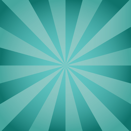 divergent: Radial aqua background with divergent rays from the center. Background color green pine Krayola and sea.