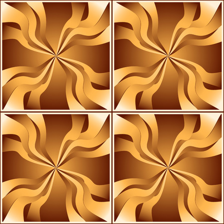lineas onduladas: patr�n de cuadrados transparente con l�neas onduladas que irradian desde el centro. dise�o de color en tonos chocolate y arena.