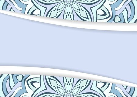 Materials Design background with mandala. Abstract background with smooth lines. Illustration