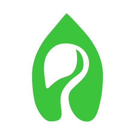 Sprout green icon. Eco-design, environmental protection concept.