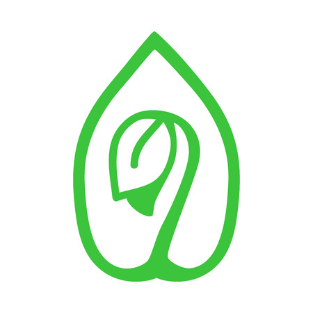 openness: Sprout green icon. Eco-design, environmental protection concept.
