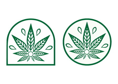 Cannabis logo. Hemp is a simple monochrome icons. Illusztráció