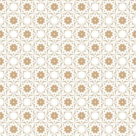 Naadloos kleurenpatroon met abstract geometrisch ontwerp. Retro behang. Vintage naadloze patroon. Wit en goud ornament.