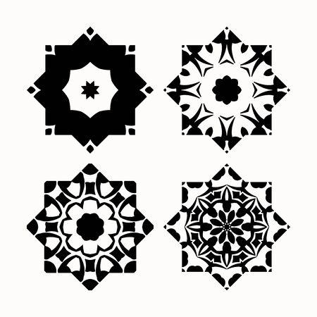 centric: Set of geometric decorative elements for design.