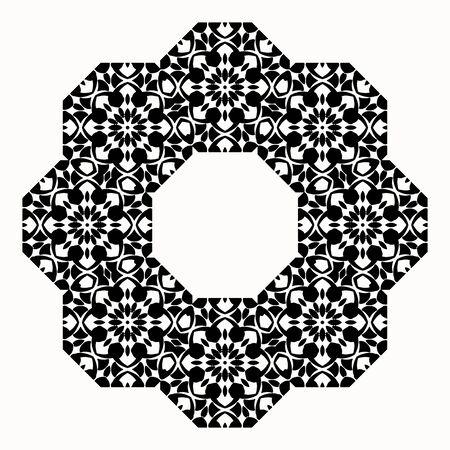 centric: Round decorative element for design. Round orthogonal border.