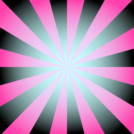 Radial background with radiating rays in black and pink tones.