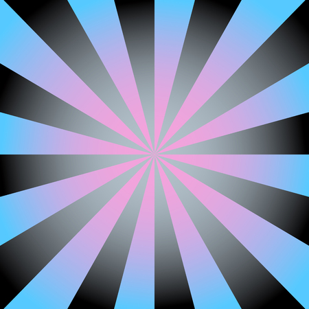 Radial background with radiating rays in black and blue tones.