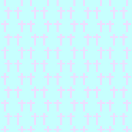 goth: Seamless background with crosses in the style of pastel goth in pink and purple tones. Illustration
