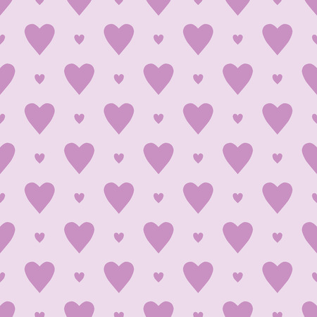 Seamless simple pattern with small hearts. Romantic background. Pink substrate with hearts for registration of holidays, weddings, Valentines Day.