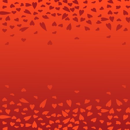 Bright red background with beautiful gradient transition and with transparent hearts for design to the Valentines Day. Background for the blog site to create a festive mood and love.
