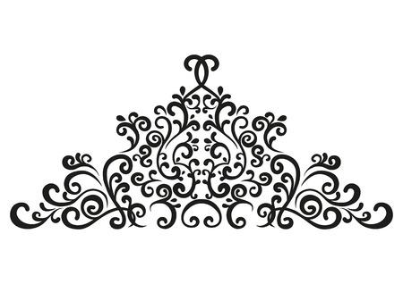 Vignette. Ornate elegant decorative element in vintage style. Scroll element. Illustration