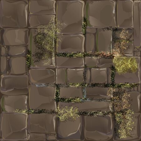 Seamless game background in the form of masonry. The texture of the pavers or walls.