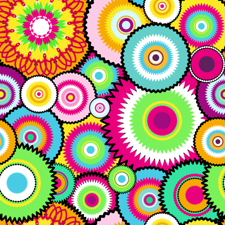 Seamless pattern from round elements. Mandala background. Patterns for edible icing sheets for covering cakes.