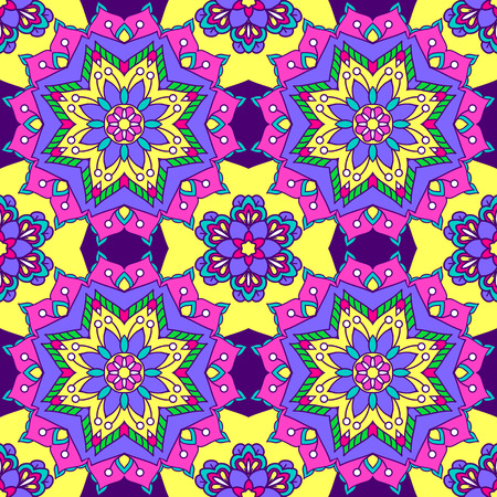 Seamless pattern from round colorful elements. Mandala background. Patterns for edible icing sheets for covering cakes. Ilustração