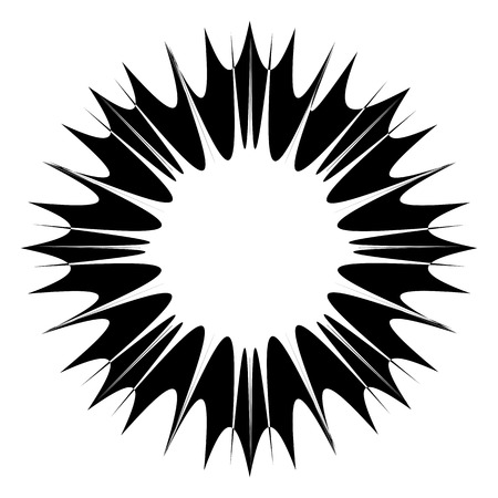 Abstract wide round black frame. Template for creating icons, logos. Grunge element for the design of posters and flyers.