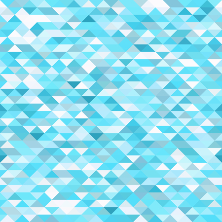 Seamless bright pattern of small triangles in blue and turquoise tones. Background for the design of the surface. Abstract geometric wallpaper. Illustration