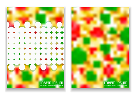 A leaflet template with an abstract dynamic background. Size A4. Ready to Print.