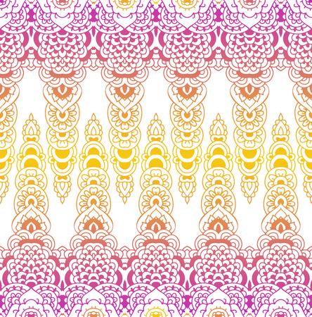 Seamless pattern of oriental ornament. Moroccan background. Lacy pattern. Illustration
