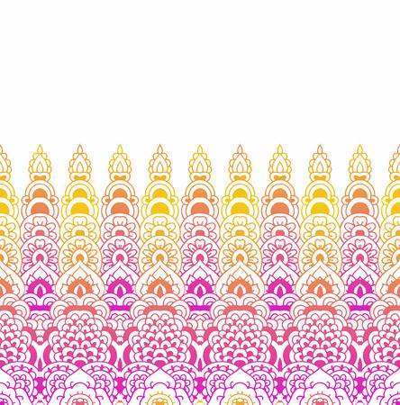 rim: Seamless pattern of oriental ornament. Moroccan background. Lace border. Illustration