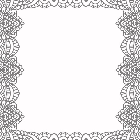 Square black frame in vintage style of flowing lines. Border for decoration postcards, logos, banners, clearance of goods and promotional products.