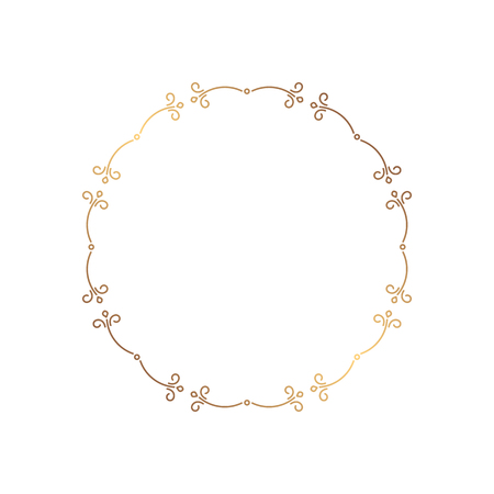 Elegant round frame in a romantic style for the design of the album, wedding invitations, postcards and other handmade products. Border silhouette of a digital stamp. Illustration
