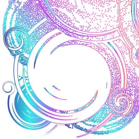 Abstract background in acid color with place for text. Dynamic fashion banner with glitter effect. Illustration