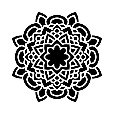 Arabesques black and white color. Template for engraving, embroidery, burning out on a tree and other creative.
