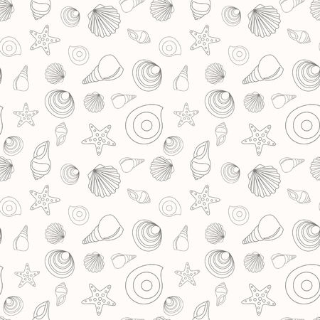 Seamless pattern from the contours of various shells