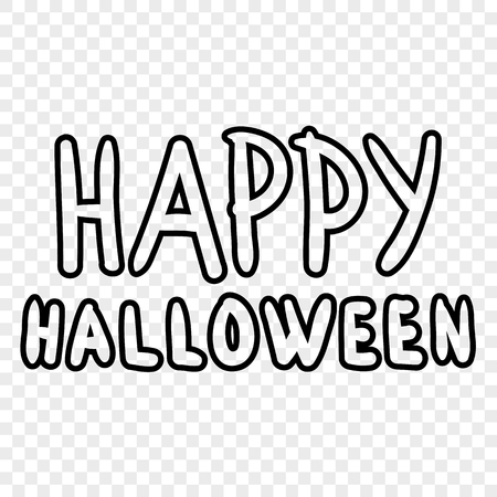 Happy halloween digital stamp. Laser cutting templates. Inscriptions for decoration. Archivio Fotografico - 111563907