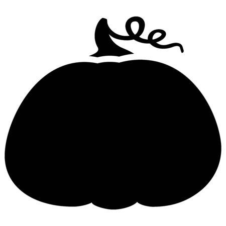 Pumpkin. Harvesting silhouette symbol. Vegetable digital stamp. Pumpkin dishes icon.