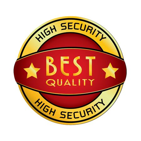 best security: High Security  Best Quality isolated on white background.