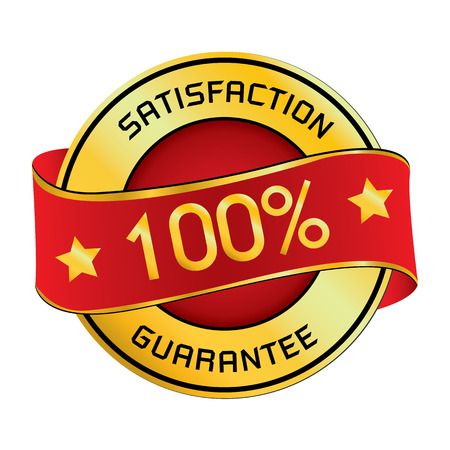 Satisfaction Guarantee . Satisfaction Guarantee isolated on white background.