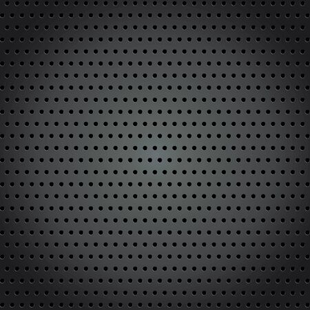 Steel background with circle perforated texture background. Illustration