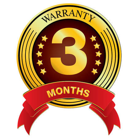 months: Warranty for Three Months Design isolated on white background. Warranty for Months. Illustration