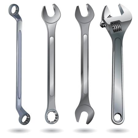 Handwerkzeug. Schraubenschlüssel auf einem weißen Hintergrund. Objekt-Tool auf weißem Hintergrund.