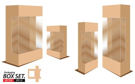 stockpile: Packaging Box Design. Box set isolated on white background.