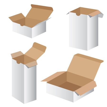 stockpile: Collection Box Packaging Design. Vector Collection box packaging. Illustration