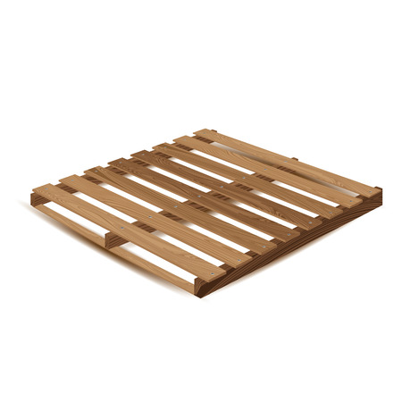 removals: Wooden pallet. Wooden pallets to transport and freight transport isolated on white background. Illustration