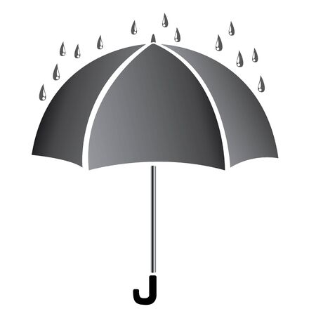 resistant: Black umbrella isolated on white background
