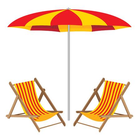 chair wooden: Beach umbrella with chair. Wooden Furniture and beach umbrella.