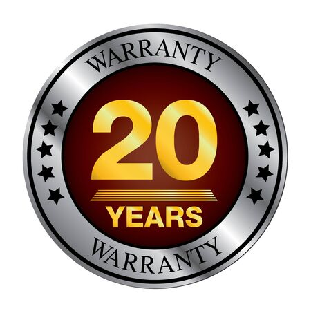 quality of life: Twenty year warranty silver color and gold color.